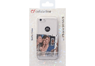 CELLULAR LINE HARD SELFIE CASE Handyhülle, Transparent, passend für Apple iPhone SE, iPhone 5s, iPhone 5