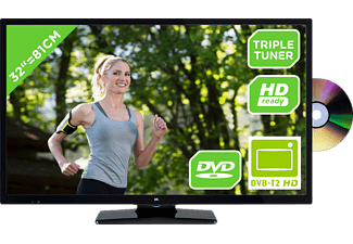 OK. ODL 32651H-TB DVD, 81 cm (32 Zoll), HD-ready, LED TV, 200 CMP, DVB-T2 HD, DVB-C, DVB-S, DVB-S2