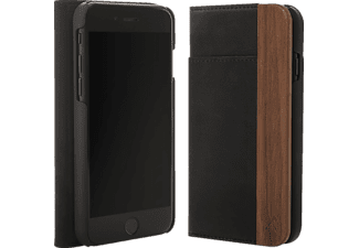 WOODCESSORIES EcoWallet iPhone 7 Plus, iPhone 8 Plus Handyhülle, Braun/Schwarz