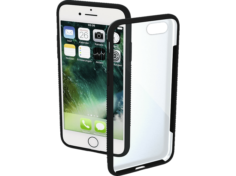 HAMA Frame , Backcover, Apple, iPhone 7/8, Polycarbonat/Thermoplastisches Polyurethan, Schwarz