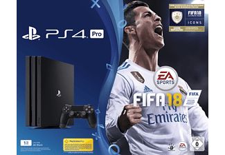 SONY PlayStation 4 Pro 1TB Schwarz + FIFA 18 + PS Plus 14 Tage