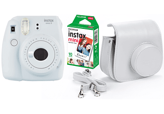 FUJIFILM instax mini 9 + 10 shots + case - Wit
