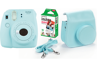 FUJIFILM instax mini 9 + 10 shots + case - Blauw