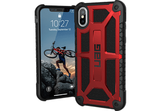 URBAN ARMOR GEAR Monarch Handyhülle, Crimson/Black/Silver Logo, passend für Apple iPhone X