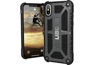 URBAN ARMOR GEAR Monarch Handyhülle, Graphite/Black/Silver Logo, passend für Apple iPhone X