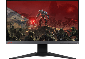 LENOVO Y25f-10 24.5 Zoll Full-HD Gaming Monitor (1x HDMI, 1x DisplayPort, 3x USB 3.0 (davon 1x BC1.2), 1x Audio-Out Kanäle, 1 ms Reaktionszeit, FreeSync)