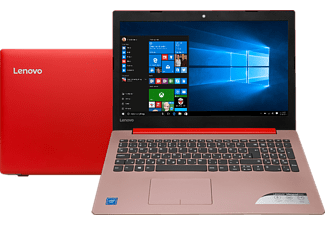 "LENOVO Ideapad 320 piros notebook 80XR00ATHV (15,6"" matt/Celeron/4GB/500GB HDD/Windows 10)"