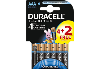 DURACELL TURBO MAX 4+2DB AAA ELEM-DL