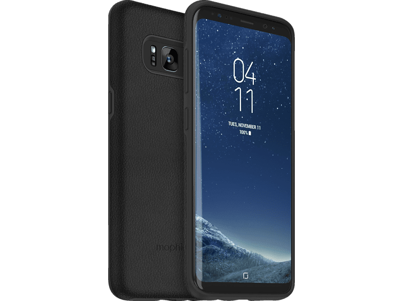 MOPHIE mophie charge force case & powerstation mini  , Backcover, Samsung, Galaxy S8, Schwarz