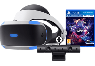 SONY PlayStation VR (v2) + Camera + VR Worlds (downloadvoucher)