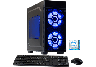 HYRICAN STRIKER 5648 BLUE I5-7400/8GB/120GB SSD+1TB, Gaming PC mit Core™ i5 Prozessor, 8 GB RAM, 120 GB SSD, 1 TB HDD, Geforce® GTX 1050 Ti, 4 GB GDDR5 Grafikspeicher