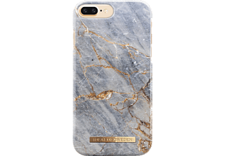 IDEAL OF SWEDEN Fashion Handyhülle, Grey Marble, passend für Apple iPhone 6 Plus, iPhone 7 Plus, iPhone 8 Plus