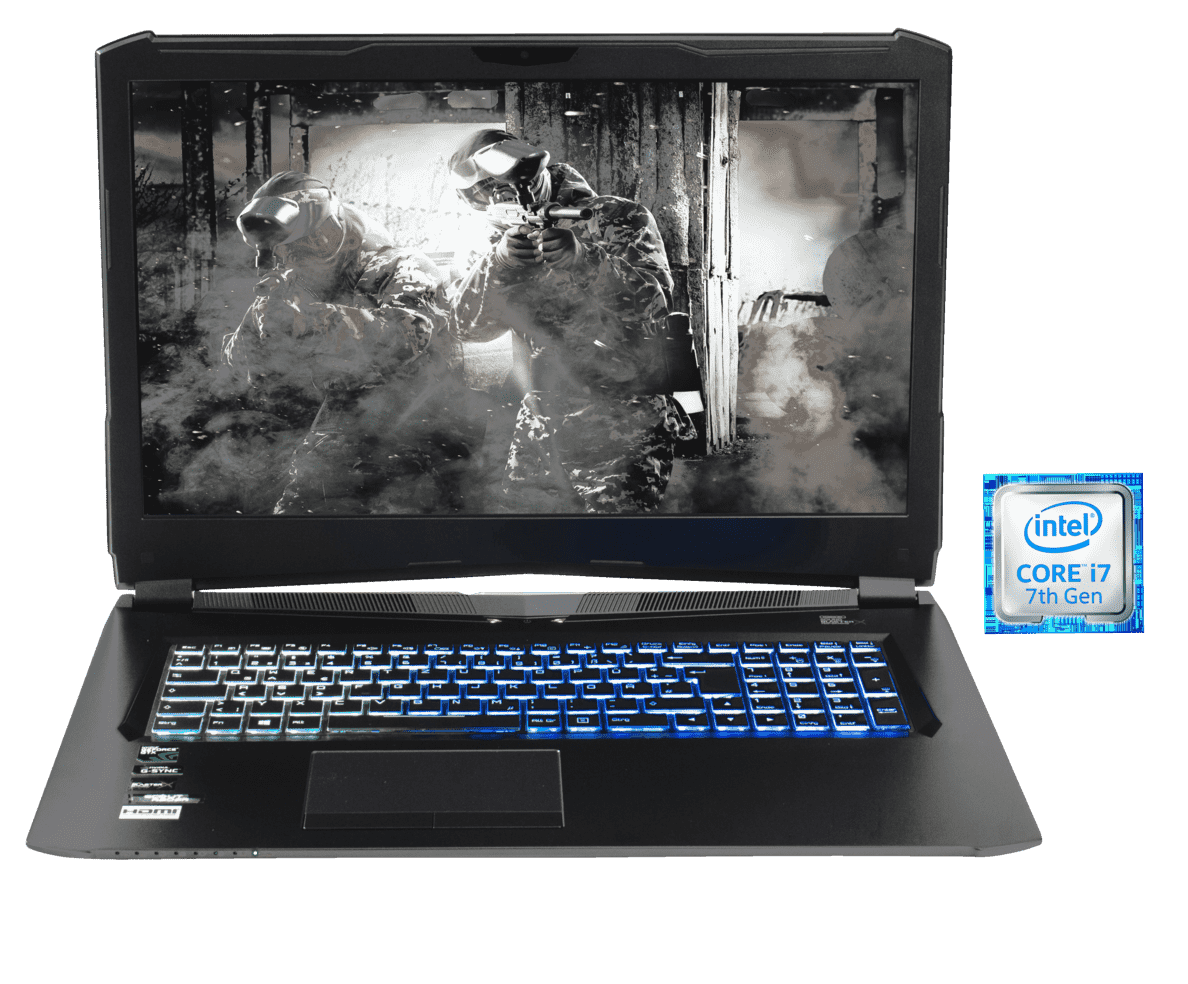 HYRICAN NOT01572, Gaming-Notebook, Gaming Notebook, Core™ i7 Prozessor, 8 GB RAM, 120 GB SSD, 1 TB HDD, Geforce® GTX 1070, Schwarz | 04045643015727