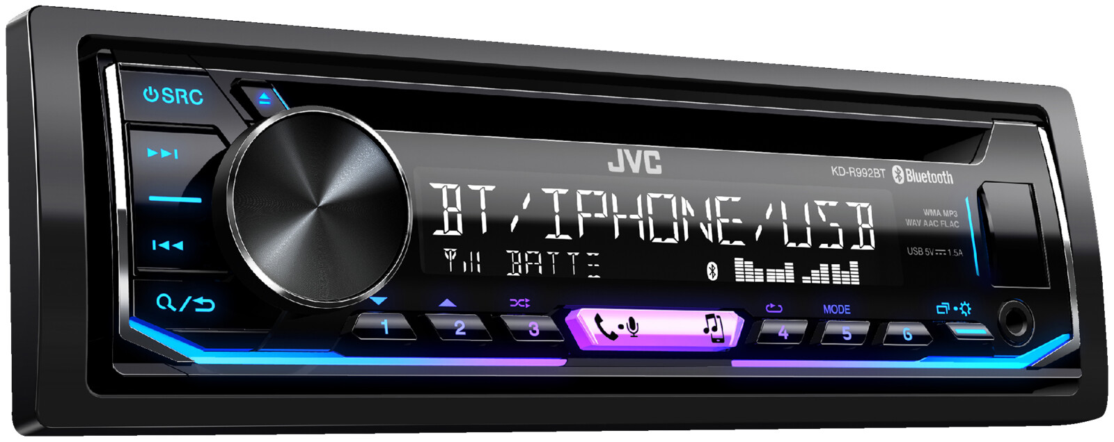 jvc kd r992bt autoradio 1 din 50 watt ebay. Black Bedroom Furniture Sets. Home Design Ideas