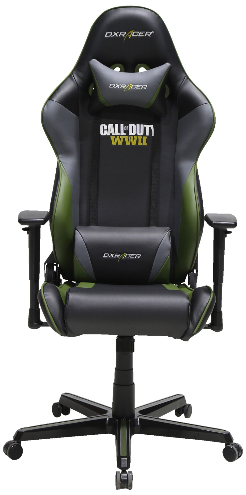 dxracer racing r52 gaming chair call of duty wwii edition gaming stuhl schwarz ebay. Black Bedroom Furniture Sets. Home Design Ideas