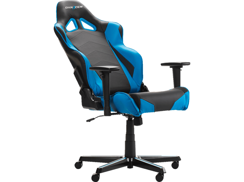 Dxracer Racing R0 Gaming Chair Black Blue Gaming Stuhl Schwarz Blau