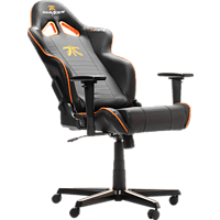DXRACER Racing R58 Gaming Chair Fnatic Edition Gaming Stuhl, Schwarz/Orange