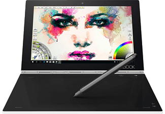 LENOVO Yoga Book, Convertible mit 10.1 Zoll, 128 GB Speicher, 4 GB RAM, Atom® Prozessor, Windows 10 Pro, Pearl White