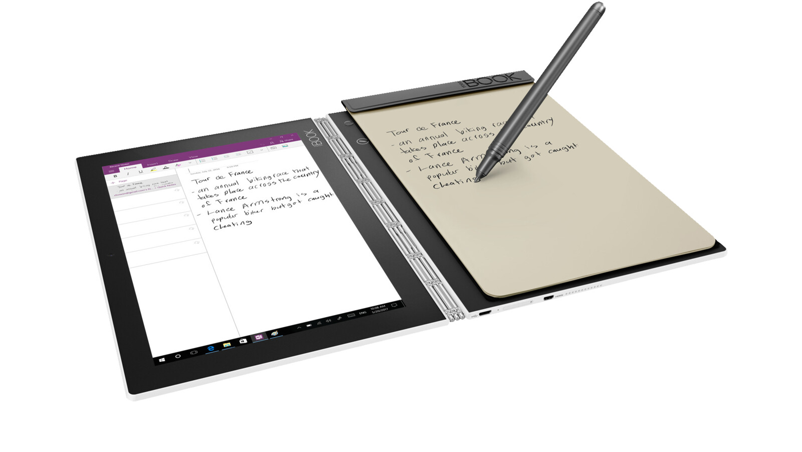 lenovo yoga book convertible mit 10 1 zoll display atom. Black Bedroom Furniture Sets. Home Design Ideas