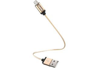 HAMA Micro-USB Lade-/Datenkabel, Gold