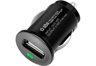 SBS MOBILE USB Mini Car Charger för alla smartphones - 500 mA