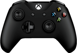 MICROSOFT Xbox Controller + Wireless Adapter für Windows Wireless Controller, Schwarz