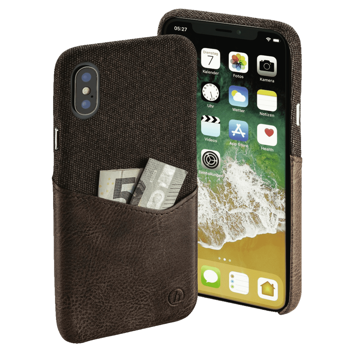 HAMA Prime Line Gentle für Apple iPhone X in Dunkelbraun