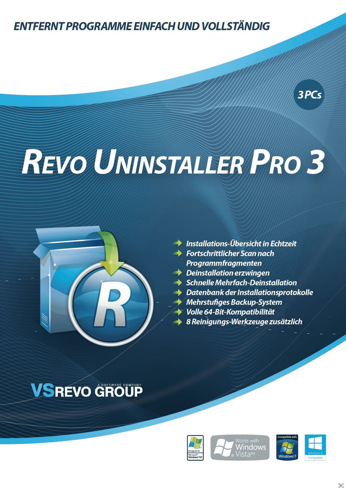 Revo Uninstaller 3 - 3-Platz-Version auf