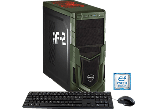 HYRICAN MILITARY GAMING 5772, Gaming PC mit Core™ i7 Prozessor, 16 GB RAM, 240 GB SSD, 1 TB HDD, Geforce® GTX 1060, 6 GB GDDR5 Grafikspeicher
