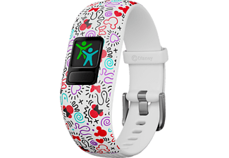 GARMIN  VIVOFIT JR 2 DISNEY MINNIE MAUS, Fitness Tracker, 130-175 mm, Silikon, Weiß/Bunt