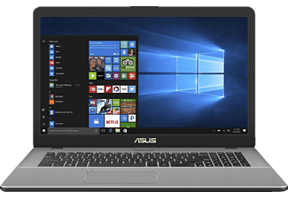 ASUS N705UD-GC133T, Notebook mit 17.3 Zoll Display, Core™ i7 Prozessor, 16 GB RAM, 1 TB HDD, 256 GB SSD, GeForce GTX 1050, Grey Metal