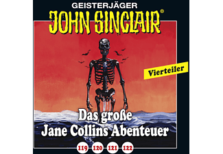 119-122 Das grosse Jane Collins Abenteur - 4 CD - Horror