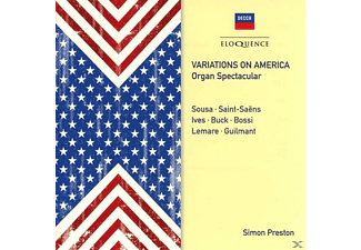 PRESTON SIMON - VARIATIONS ON AMERICA-ORGAN SPECTACULAR - (CD)
