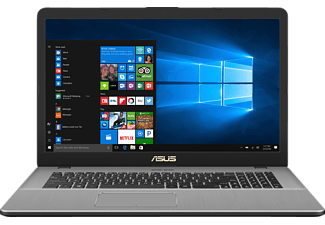 ASUS N705UD-GC181T, Gaming Notebook mit 17.3 Zoll Display, Core™ i7 Prozessor, 16 GB RAM, 2 TB HDD, 256 GB SSD, GeForce GTX 1050, Star Grey