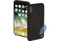 HAMA Cozy , Backcover, Apple, iPhone X, Silikon/Textilbezug, Schwarz