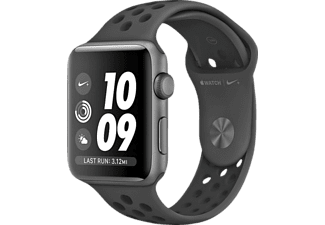 Smartwatch - Apple Watch Nike+ Serie 3, 42mm, OLED, GPS, 8 GB, WiFi, Antracita/Negra