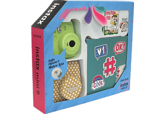 FUJIFILM Instax Mini 9 Box Scrapbook Lim Green