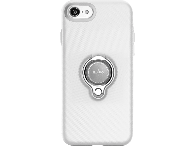 PURO Magnet Ring , Backcover, Apple, iPhone 7, iPhone 8, Weiß