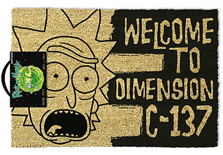 Rick and Morty Fußmatte Dimension C-137 Schwarz