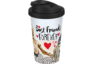 GEDA LABELS Star Wars Coffee-to-go-Becher R2D2  C3PO Best Friends Merchandise, black-white