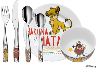 WMF 12.8604.9964 Lion King 6-tlg., Kinderbesteck-Set