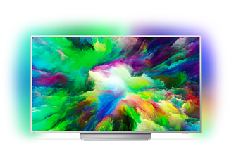 PHILIPS 49PUS7803, 123 cm (49 Zoll), UHD 4K, SMART TV, LED TV, 1700 PPI, Ambilight 3-seitig, DVB-T2 HD, DVB-C, DVB-S, DVB-S2