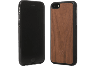 WOODCESSORIES EcoBumper Handyhülle, Walnuss/Schwarz, passend für Apple iPhone 6, iPhone 6s