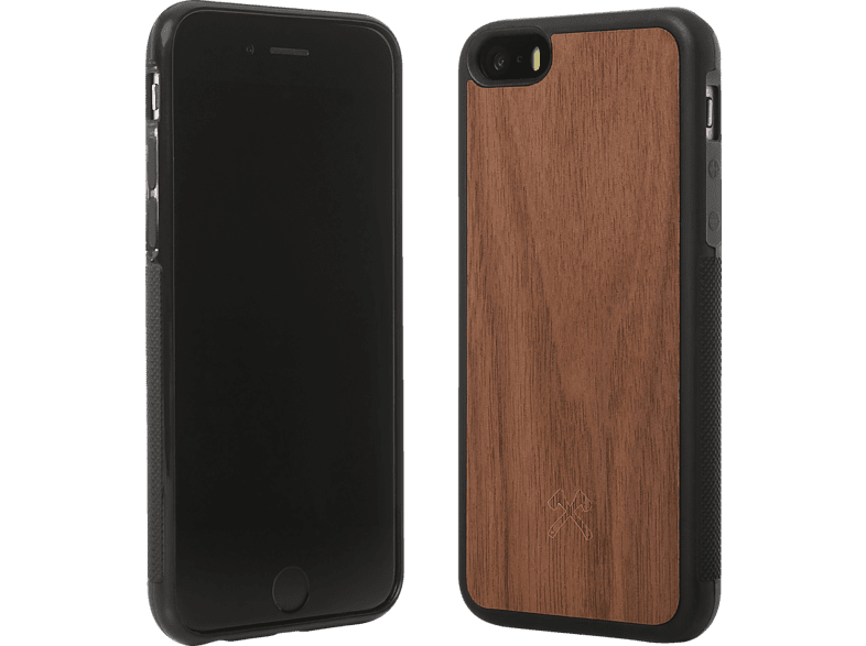 WOODCESSORIES  EcoBumper Backcover Apple iPhone 6, iPhone 6s Echtholz/Silikon Walnuss/Schwarz | 04260382632930