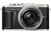OLYMPUS PEN E-PL 9 Pancake Kit Systemkamera 16.1 Megapixel mit Objektiv 14-42 mm , 7.6 cm Display   Touchscreen, WLAN