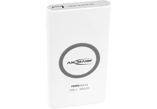 ANSMANN 8.8 Type C - Wireless Powerbank, 8000 mAh / 29.6 Wh, Schwarz