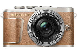 OLYMPUS PEN E-PL 9 Pancake Kit Systemkamera 16.1 Megapixel mit Objektiv 14-42 mm f/3.5, 7.6 cm Display   Touchscreen, WLAN