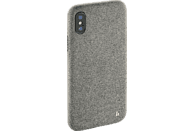 HAMA Cozy , Backcover, Apple, iPhone X, Silikon/Textilbezug, Hellgrau