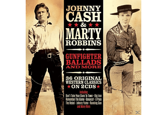 Johnny & Marty Cash - Gunfighter Ballads & More - (CD)