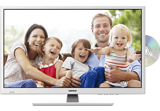 LENCO DVL-2862WH 12V/230V, 70 cm (28 in), HD-ready, LED TV + integriertem DVD-Player, DVB-T2 HD, DVB-C, DVB-S, DVB-S2